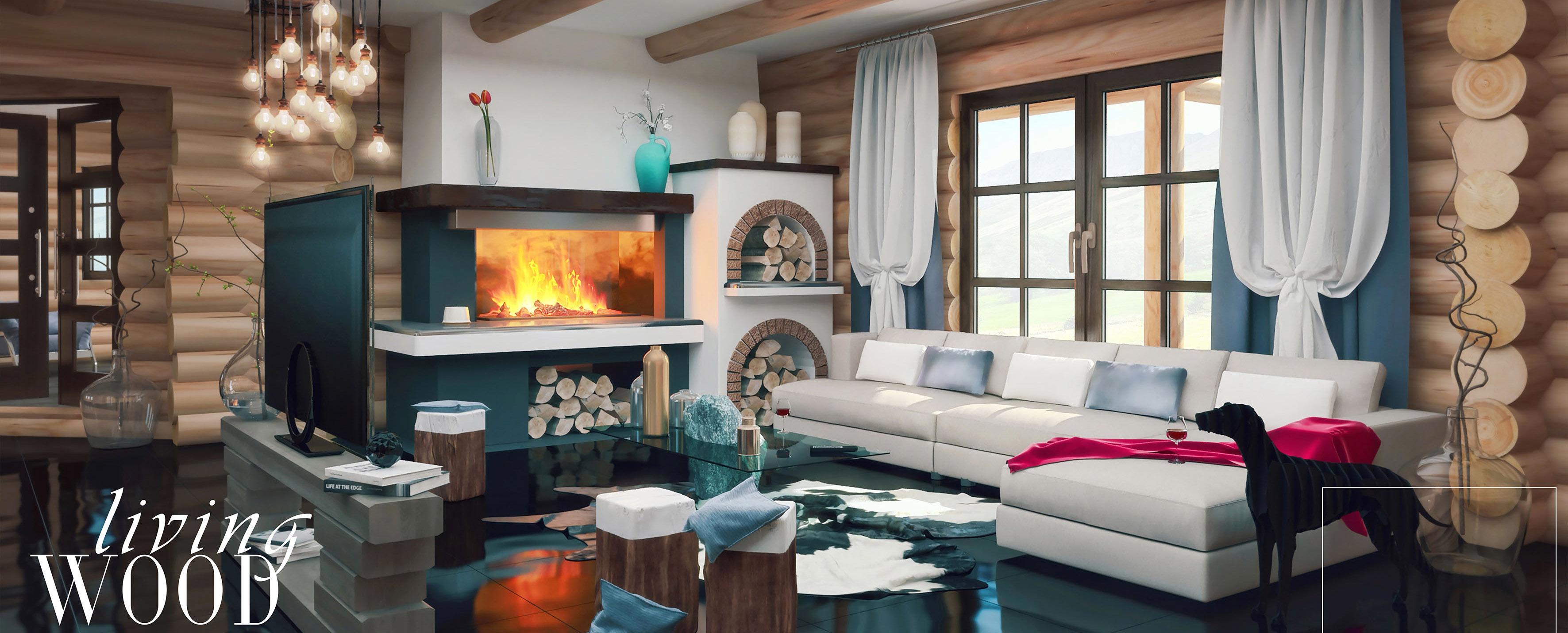 Log Villa Interior