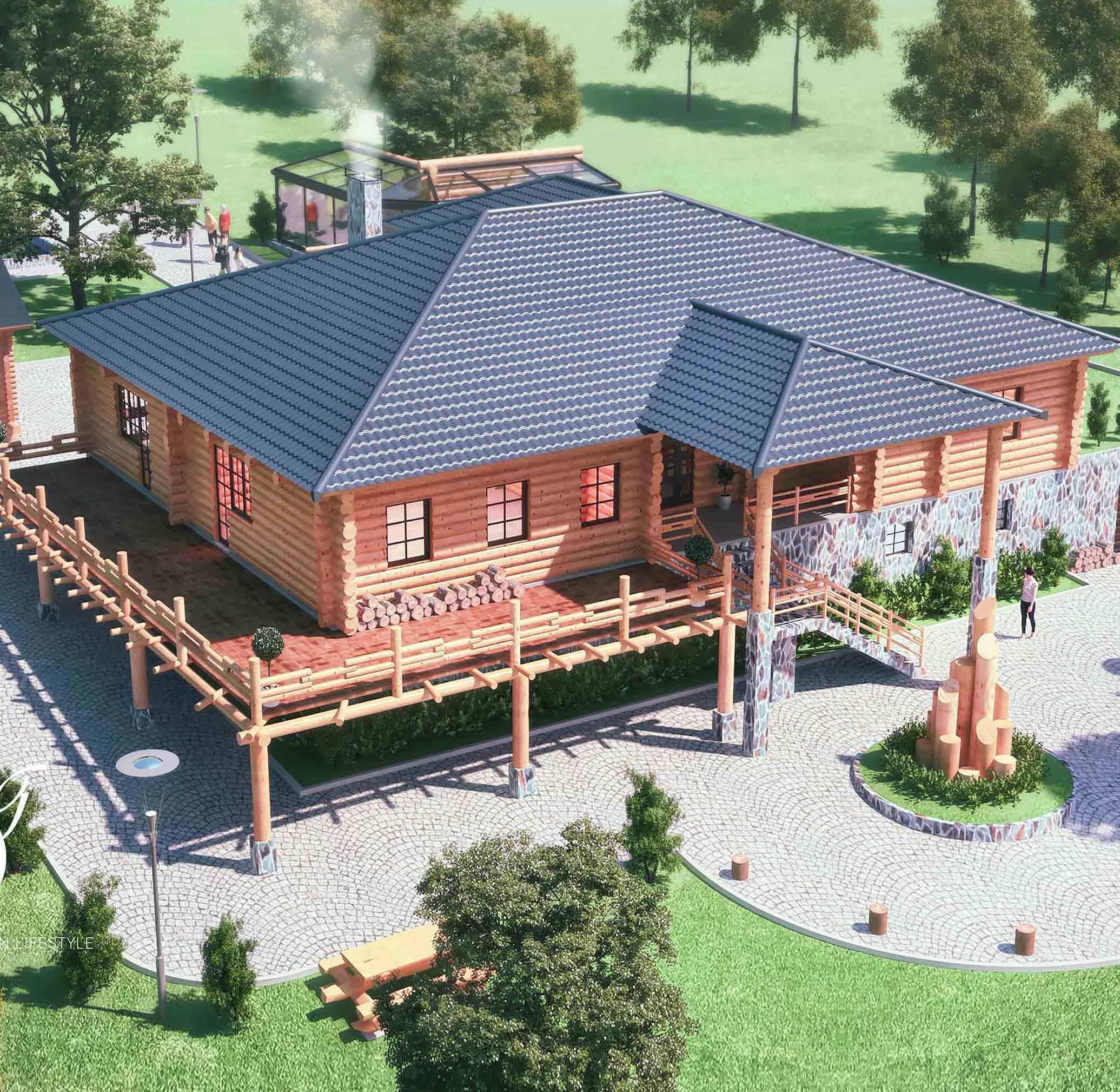 Log Villa
